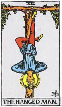 Tarot card meanings Hanged Man