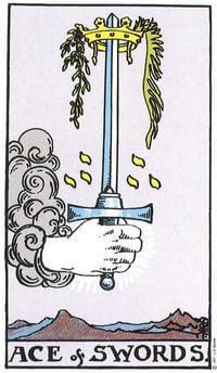 Tarot Ace of Swords symbolism