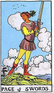 Page of Swords Tarot court cards meaning