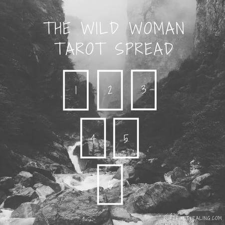 wild woman Tarot spread by Purefield
