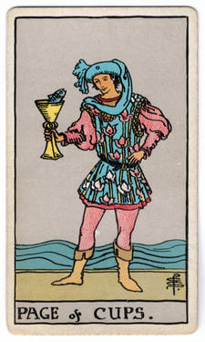 Page of Cups Tarot court cards meaning