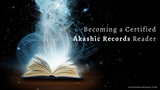 open Akashic Records book with white light coming out