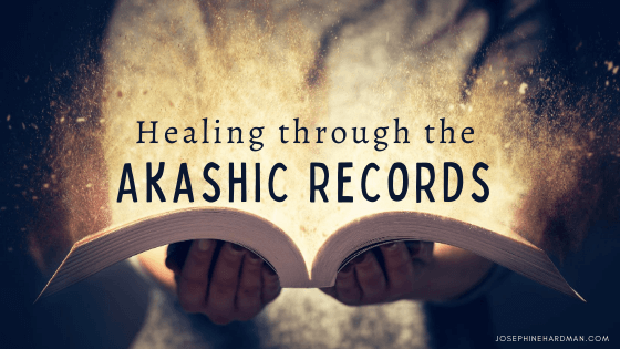blog banner image of woman holding akashic records book