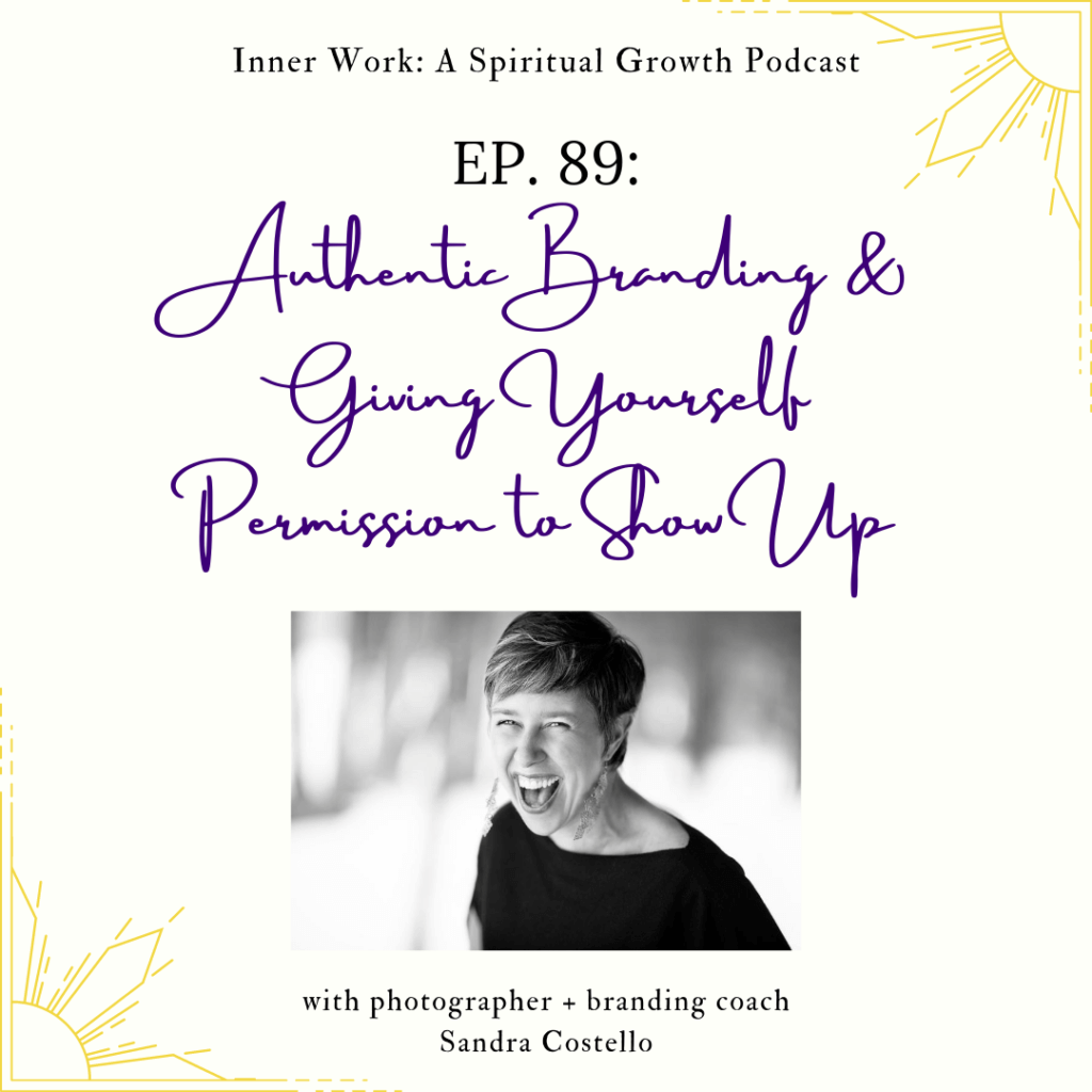 spiritual podcast authentic branding cover art