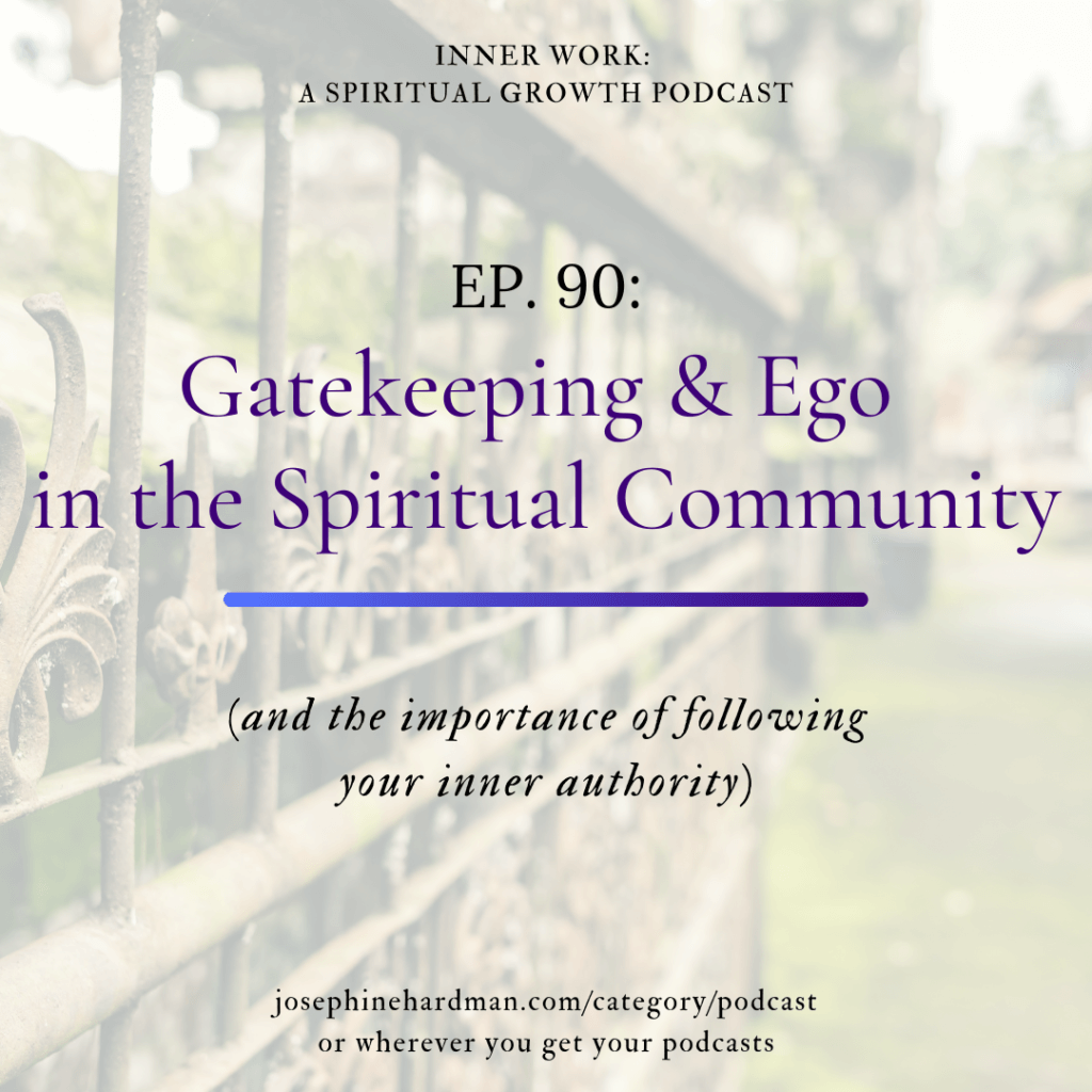 image of gate spiritual podcast gatekeeping and ego in spiritual community