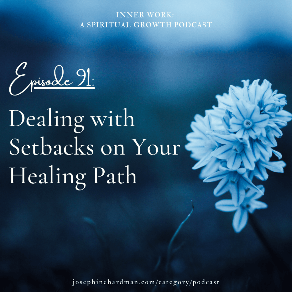 blue image white flower spiritual podcast healing setbacks