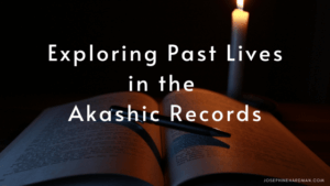 open book with pen and candle Akashic Records past life