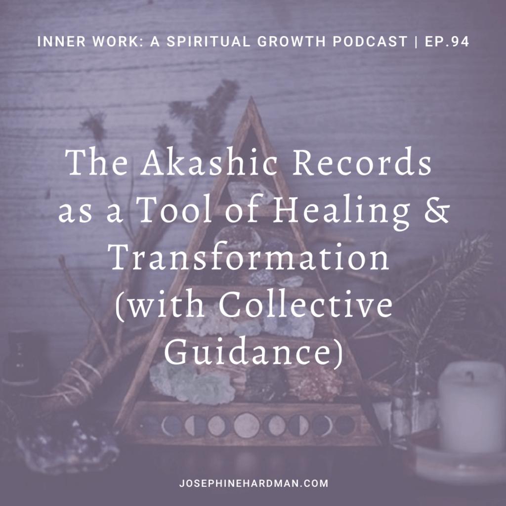 light purple background spiritual podcast episode Akashic Records healing tool