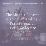 light purple background spiritual podcast episode Akashic Records healing tool