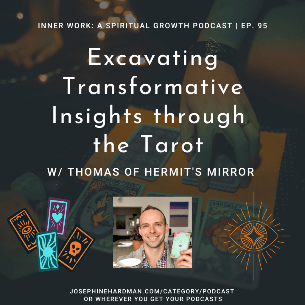 dark background tarot cards being read spiritual podcast