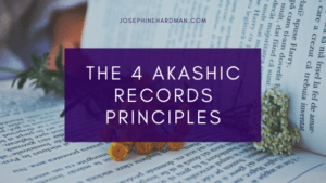 open book with flowers 4 Akashic Records healing principles blog title