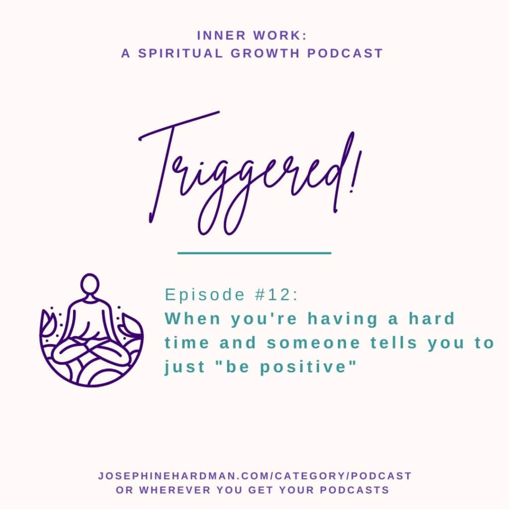 triggered spiritual podcast person sitting in meditation