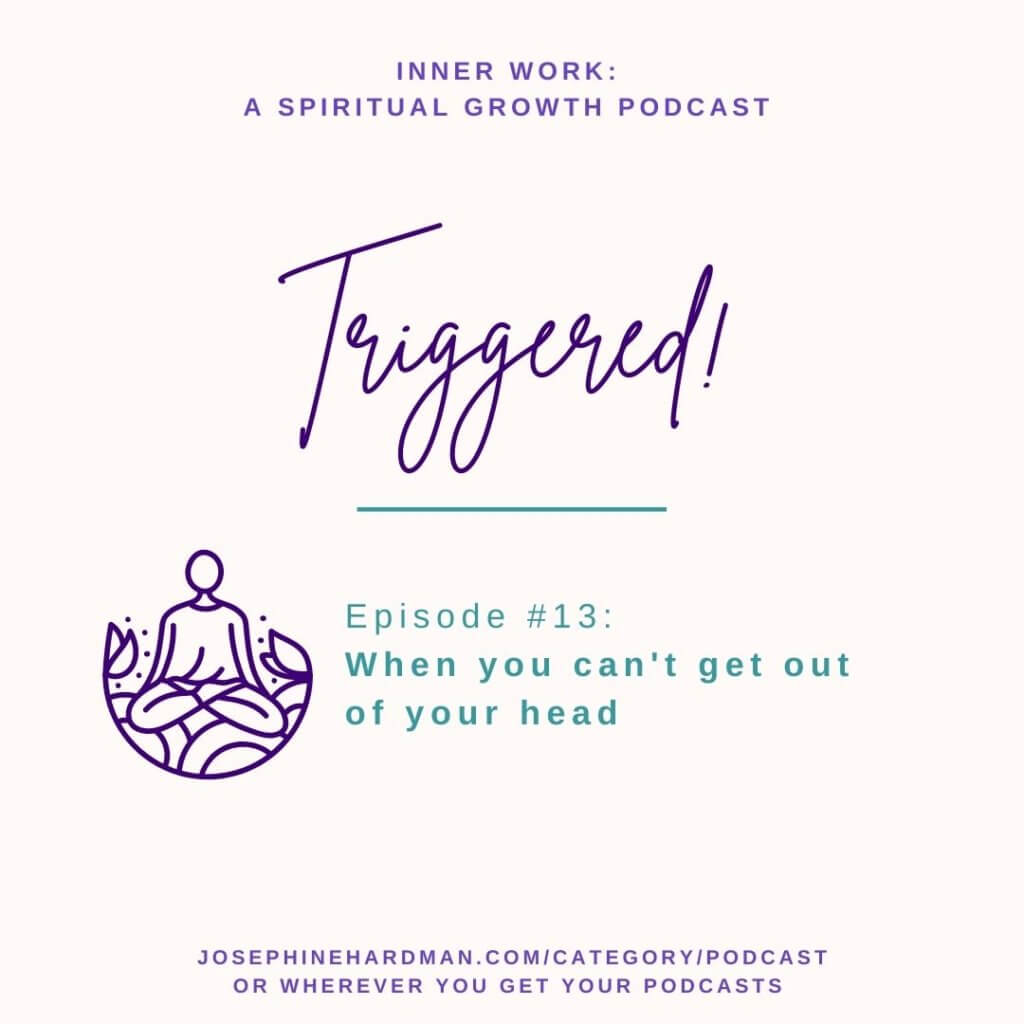 spiritual podcast person sitting in meditation overthinking