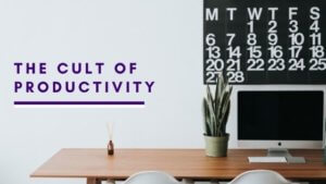desk with computer and calendar spiritual blog on productivity